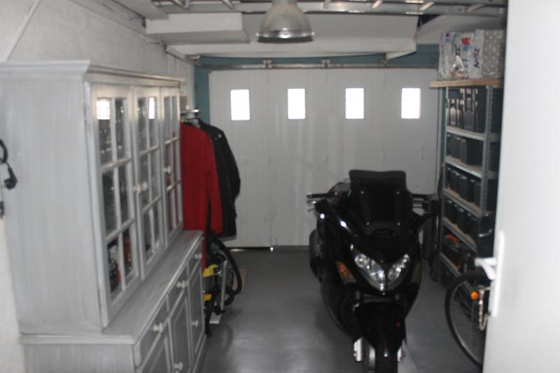 Garage carrelé et isolé